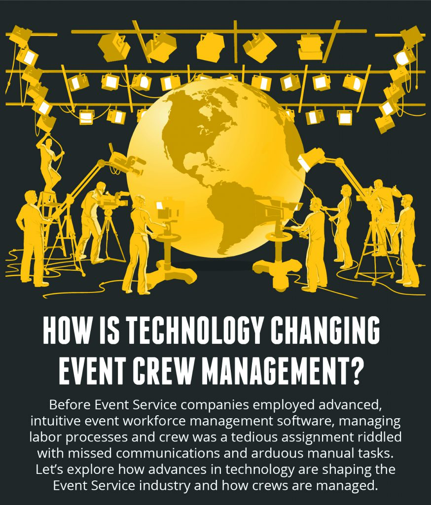 How Technology is Changing Event Crew Management Infographic
