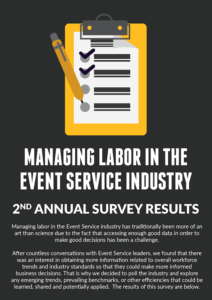 Managing Labor in the Event Service Industry Infographic