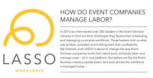 How do event companies manage labor?