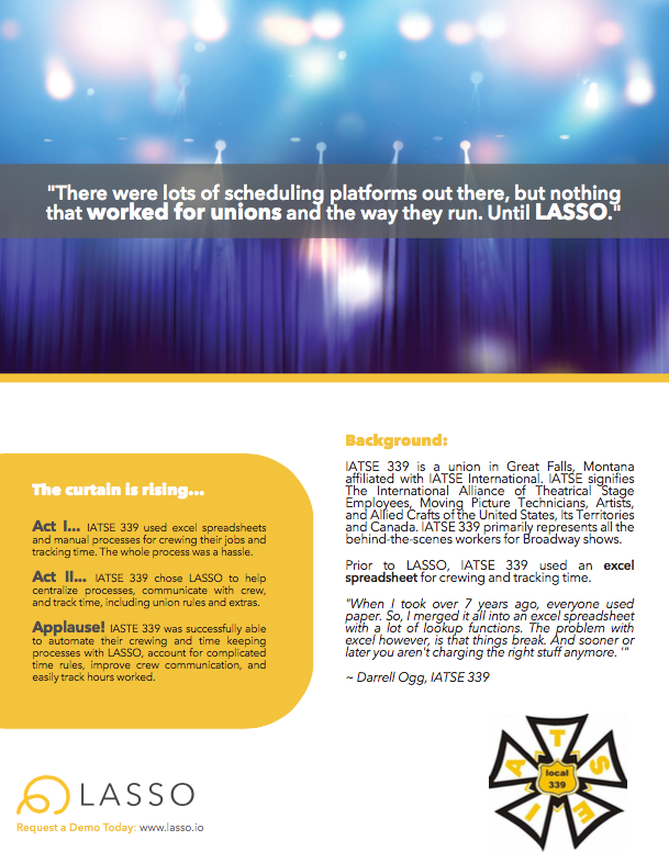 how iatse local 339 was able to automate their crewing and