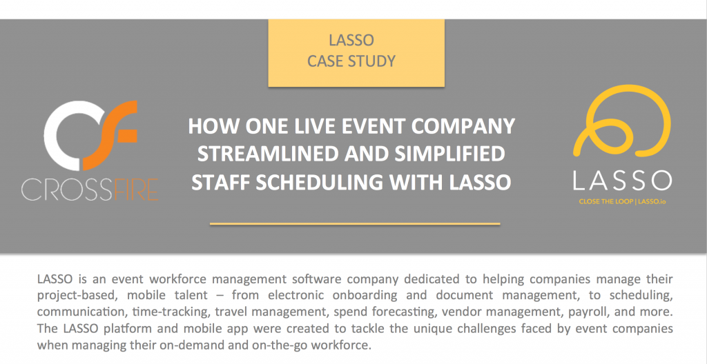 Crossfire Sound, customer of LASSO event workforce management