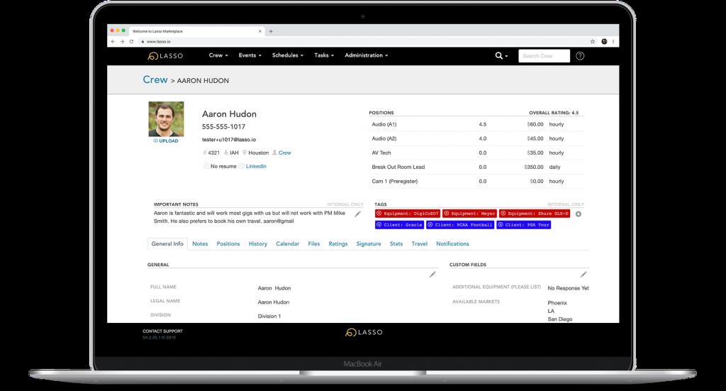 LASSO is a crew management platform