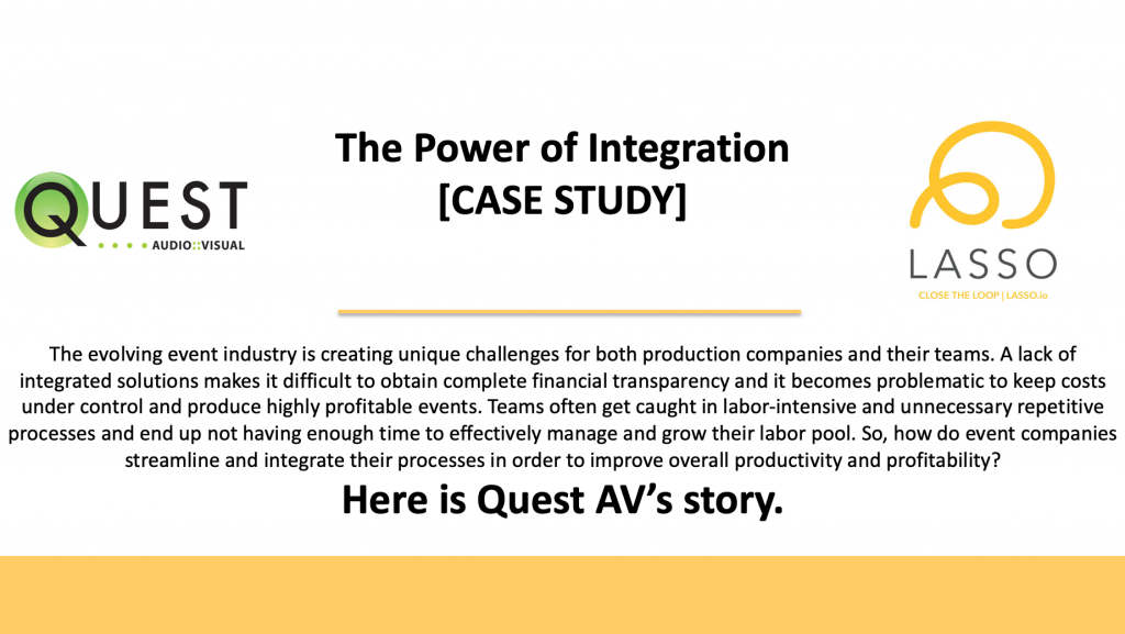 Quest AV partners with LASSO's crew management software solution
