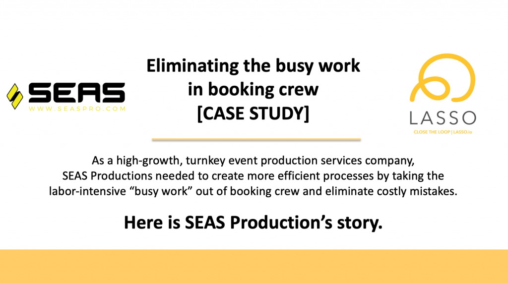 SEAS Productions partners with LASSO's crew scheduling software solution
