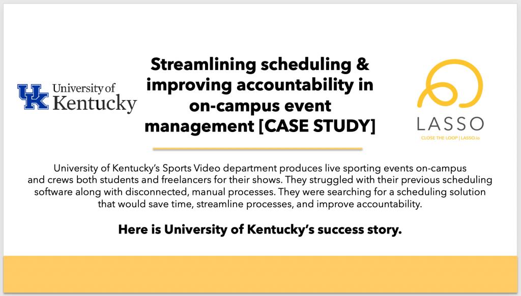University of Kentucky Testimonial